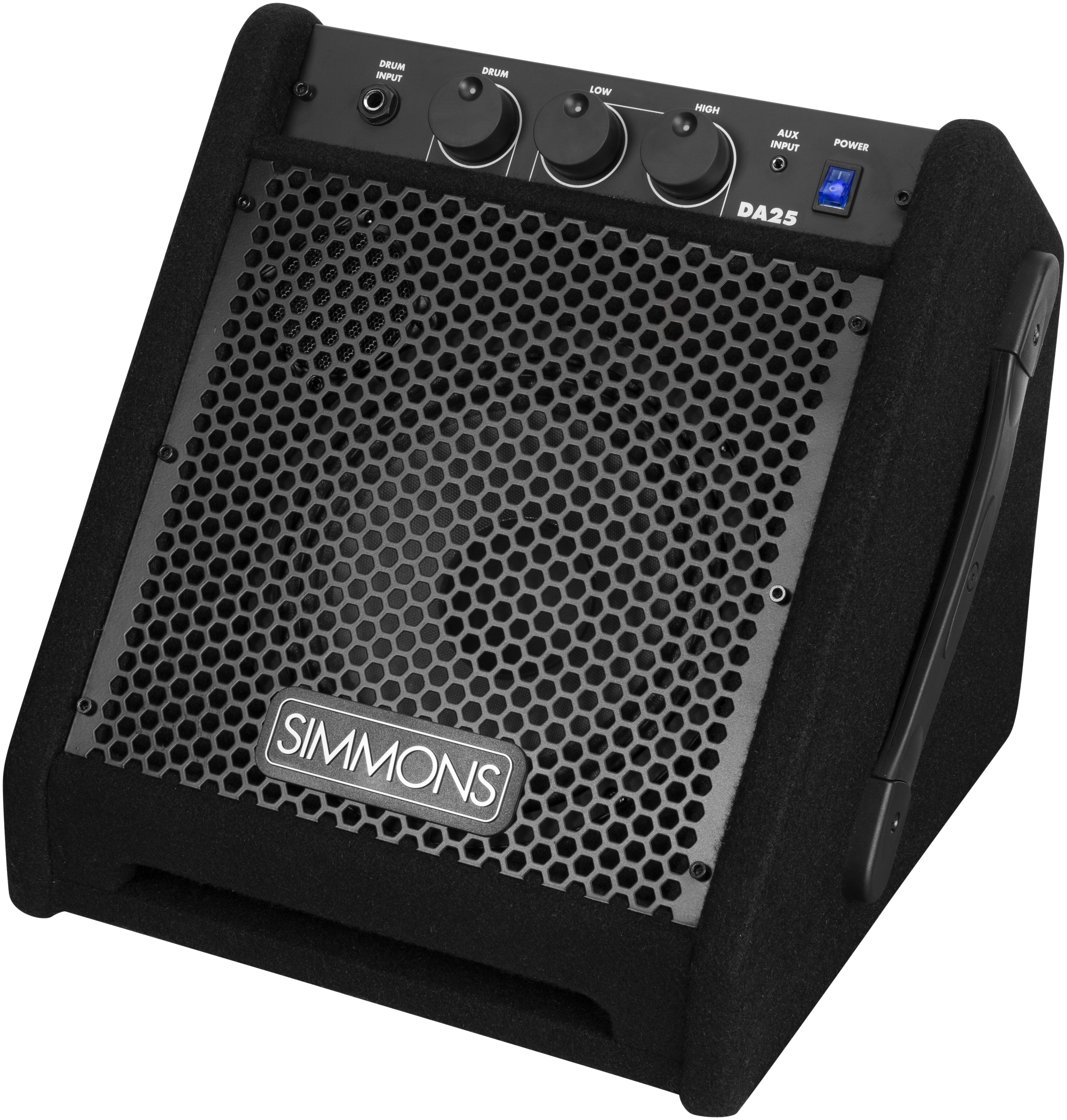 simmons introduces ultra portable da25 electronic drum amplifier get it in writing. Black Bedroom Furniture Sets. Home Design Ideas